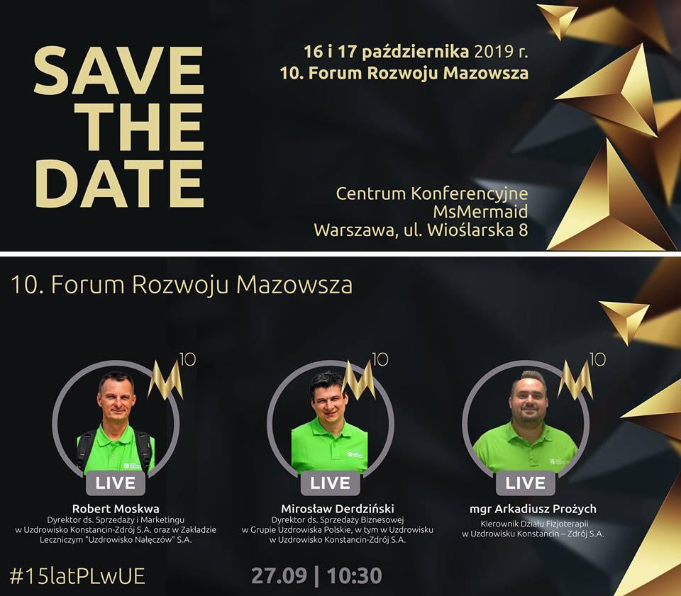 forum rozwoju mazowsza - Uzdrowisko Konstancin-Zdrój na 10. Forum Rozwoju Mazowsza